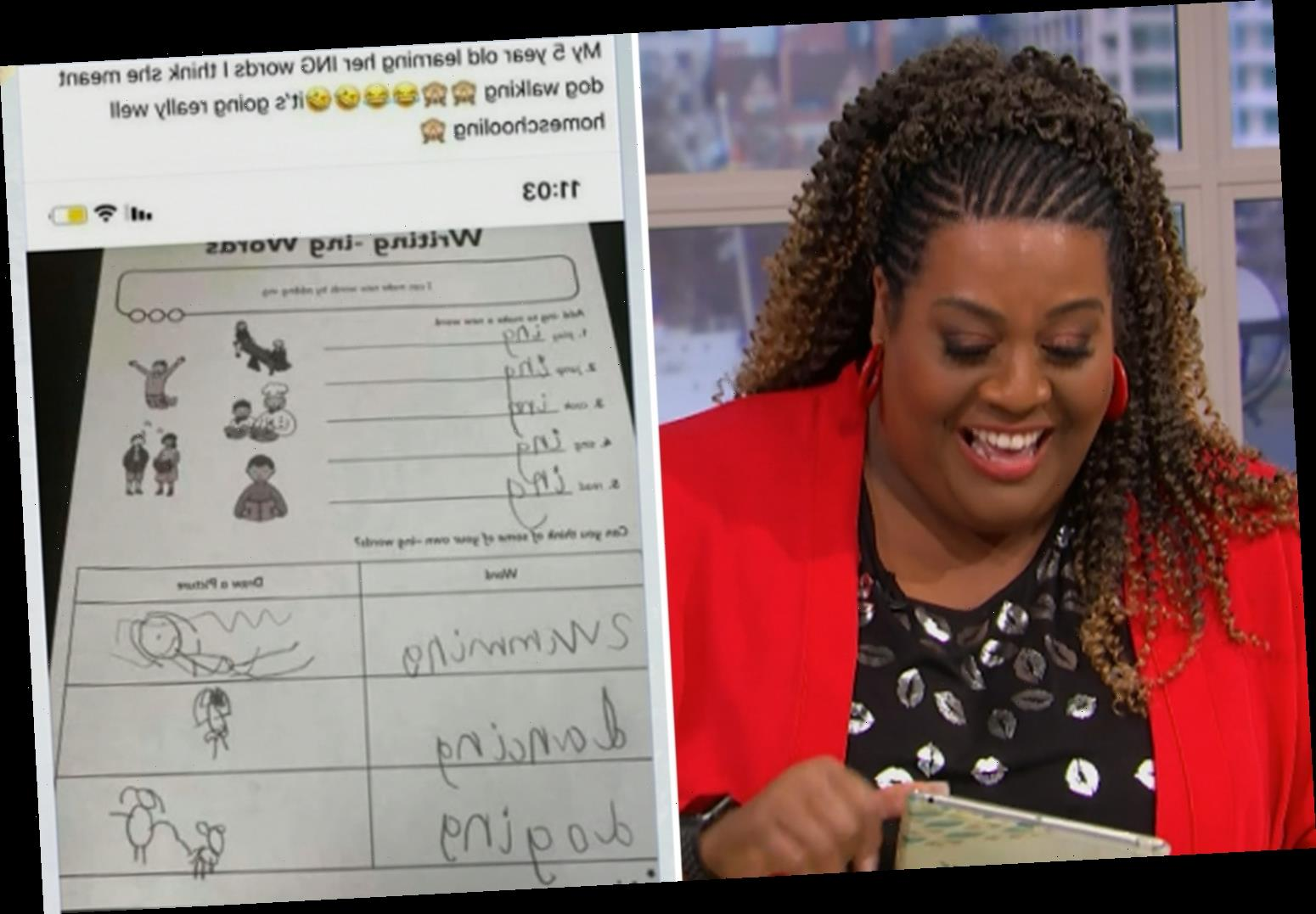 This Morning's Alison Hammond and Dermot O'Leary in hysterics over rude homeschool drawings