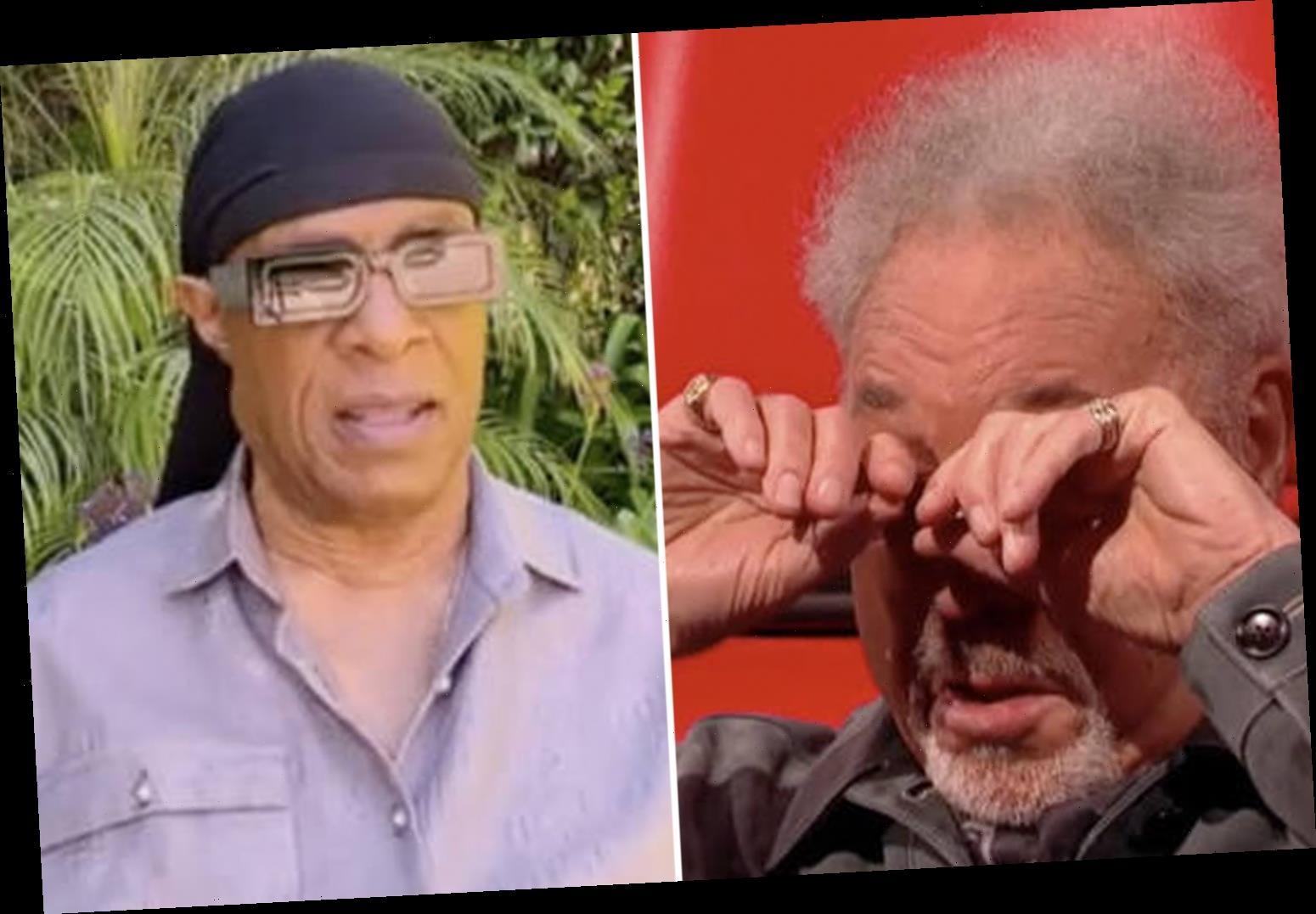The Voice UK's Sir Tom Jones breaks down in tears as Stevie Wonder surprises him with heartfelt birthday message