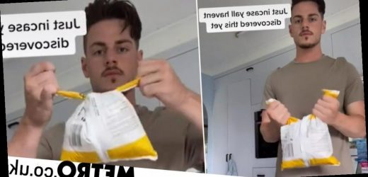 Man shows easy hack to seal freezer food bags and prevent spillages