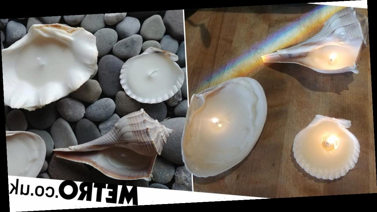 Shell candles are all over Instagram – here's how to make them