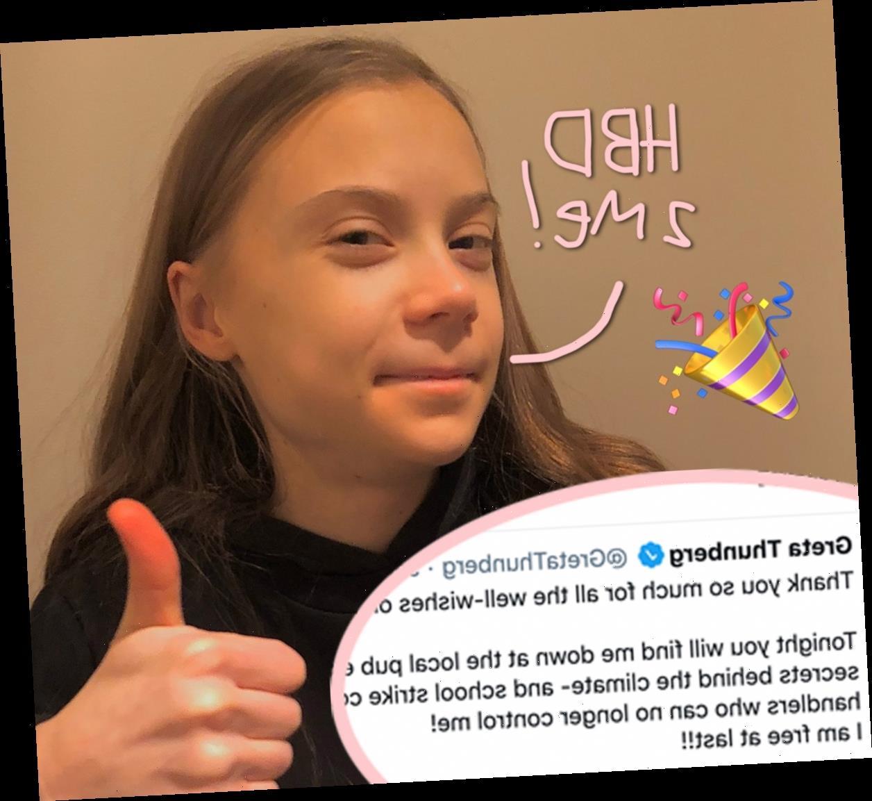 Greta Thunberg Celebrates 18th Birthday & Sticks It To Climate Change Deniers In Sarcastic Tweet!