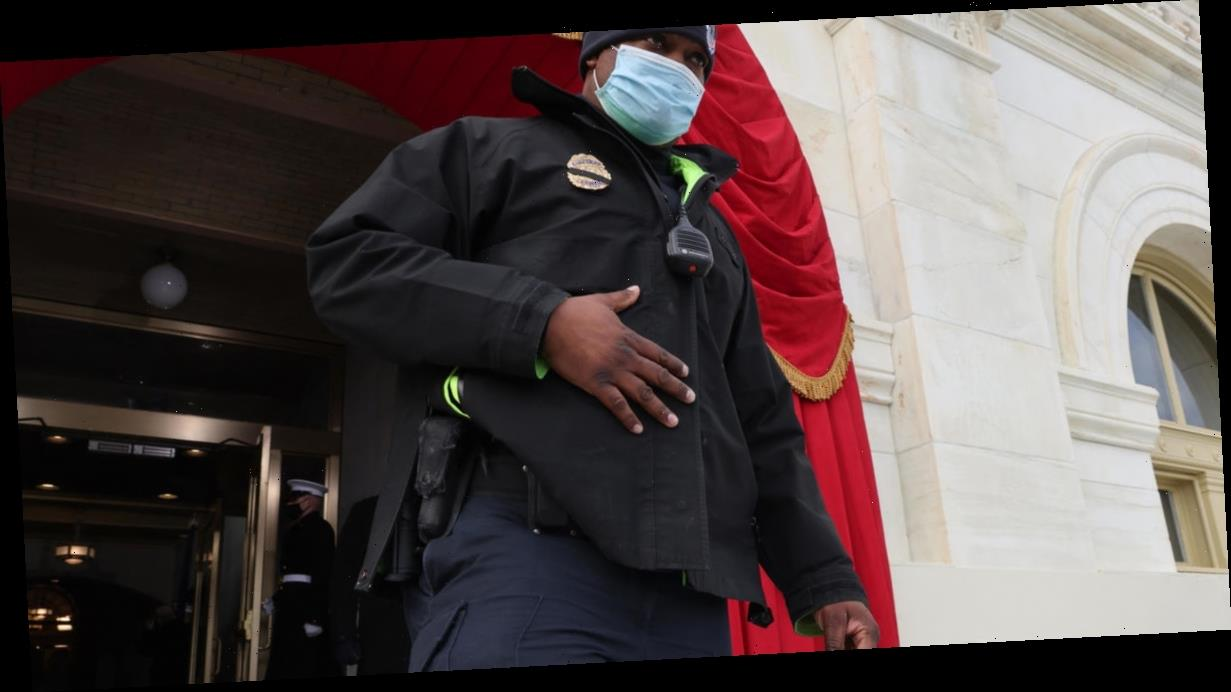 Eugene Goodman, Capitol officer who led rioters away from the Senate chamber, escorted Kamala Harris to the inauguration