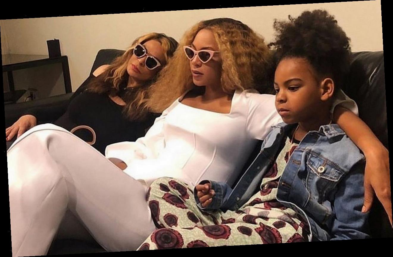 Beyonce's Daughter Blue Ivy Gives Grandma Glamorous Makeover