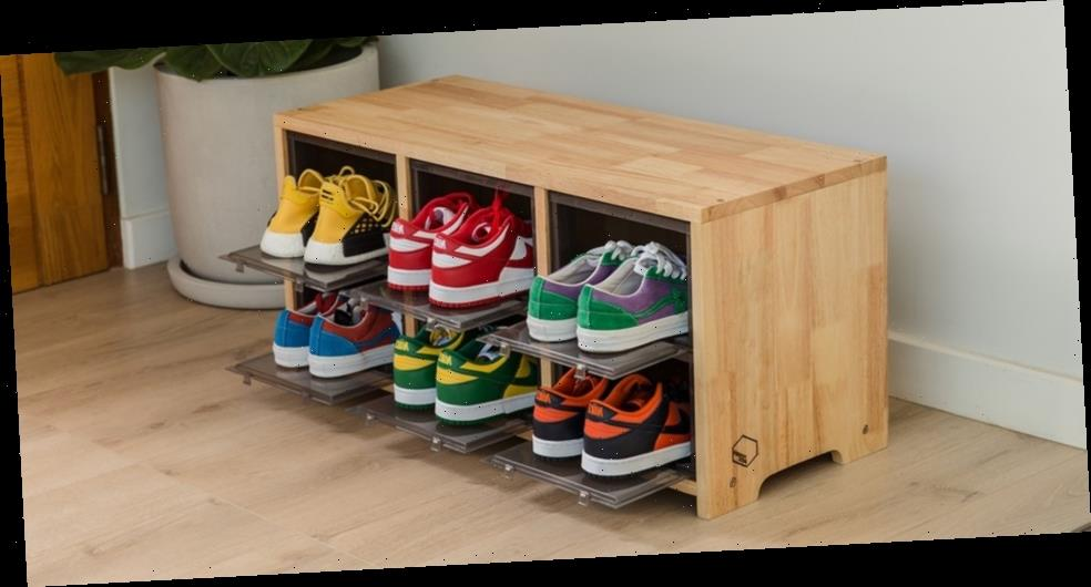 Tower Box Launches Furniture Line With Sneakers Wooden Stool
