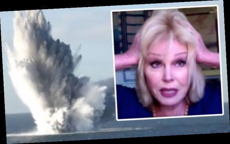 Joanna Lumley's fury as she rages over 'absolutely horrific' sea blasts killing UK's fish