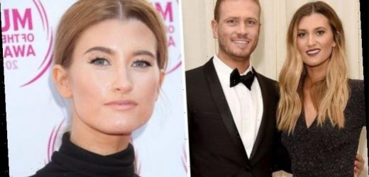 Charley Webb 'kicks off' over Matthew Wolfenden's shopping slip-up