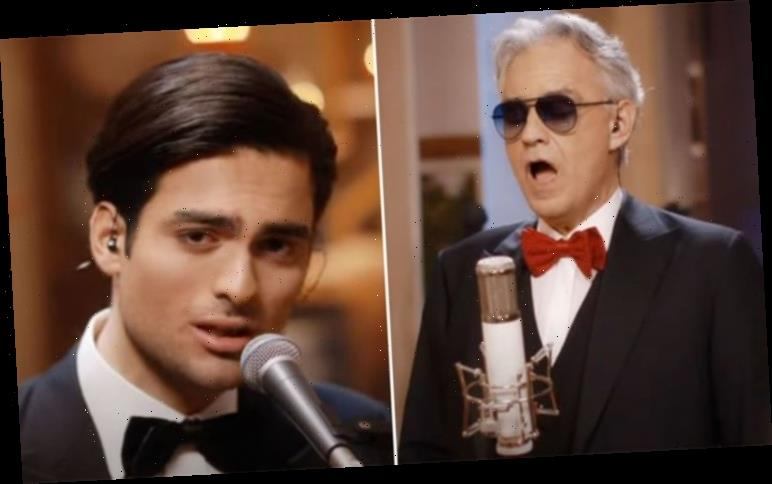 Andrea Bocelli and his son Matteo Bocelli duet Fall on Me for Chinese New Year – WATCH