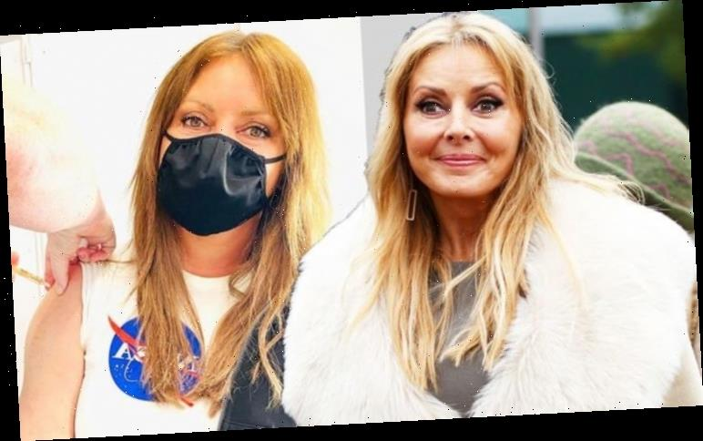 Carol Vorderman hits back after being slammed for wearing mask in car in tearful video