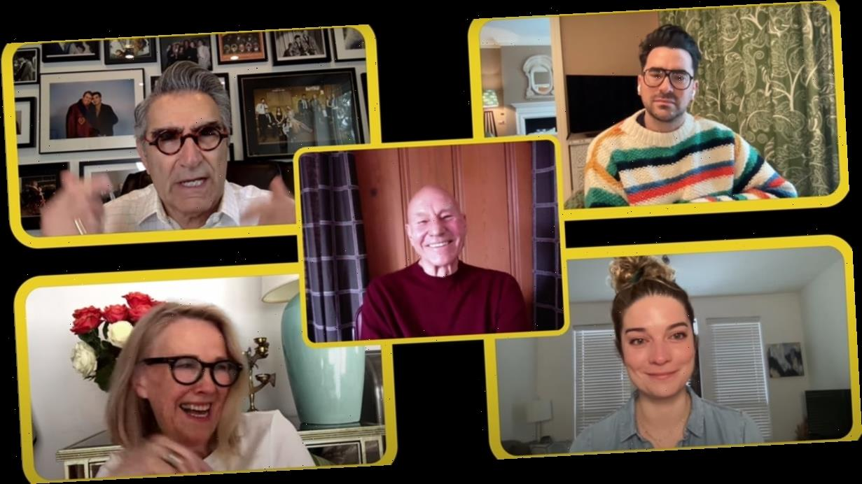 Sir Patrick Stewart Interviewed the Schitt's Creek Cast and They Cried All the Happy Tears