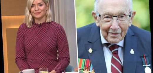 Holly Willoughby defends Captain Tom Moore's family as it's branded 'inhumane and immoral' banning hospital visits