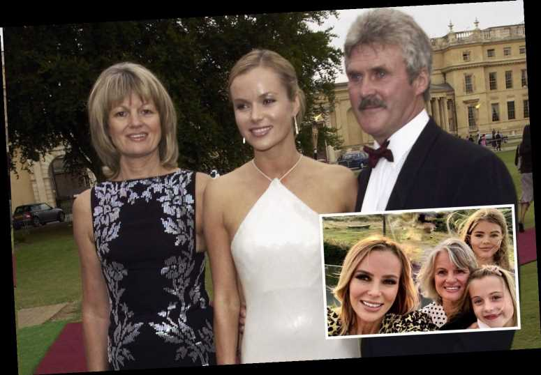 Who are Amanda Holden's parents?