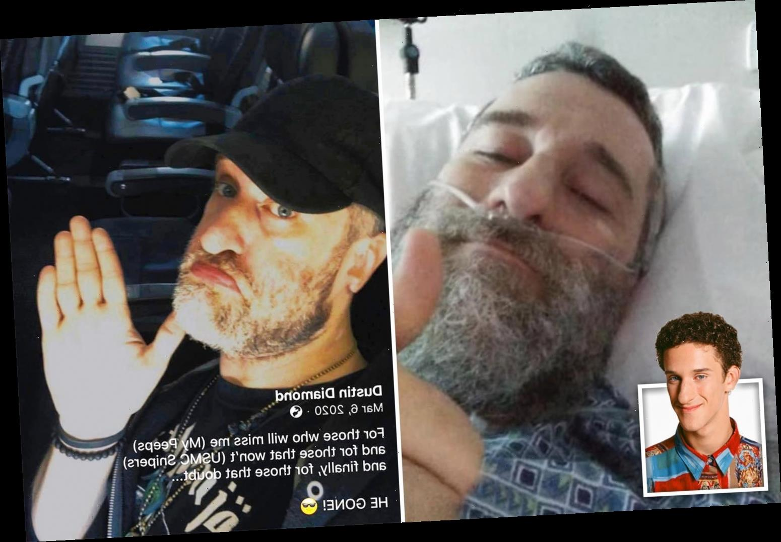 Dustin Diamond says 'my throat hurts' in 'last' audio message before cancer death – but still manages to tell joke