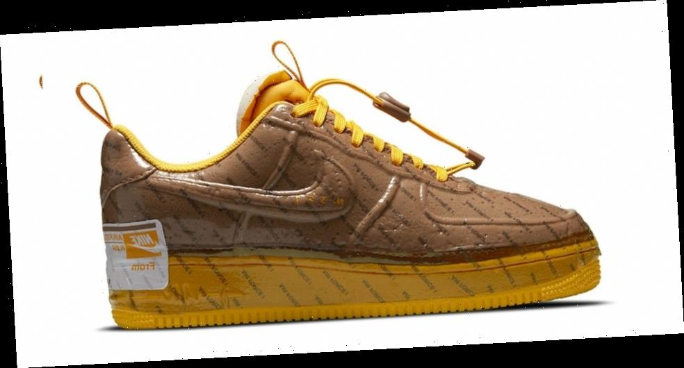"Nike's Air Force 1 Experimental Gets a Glossy ""Archaeo Brown"" Wrap"