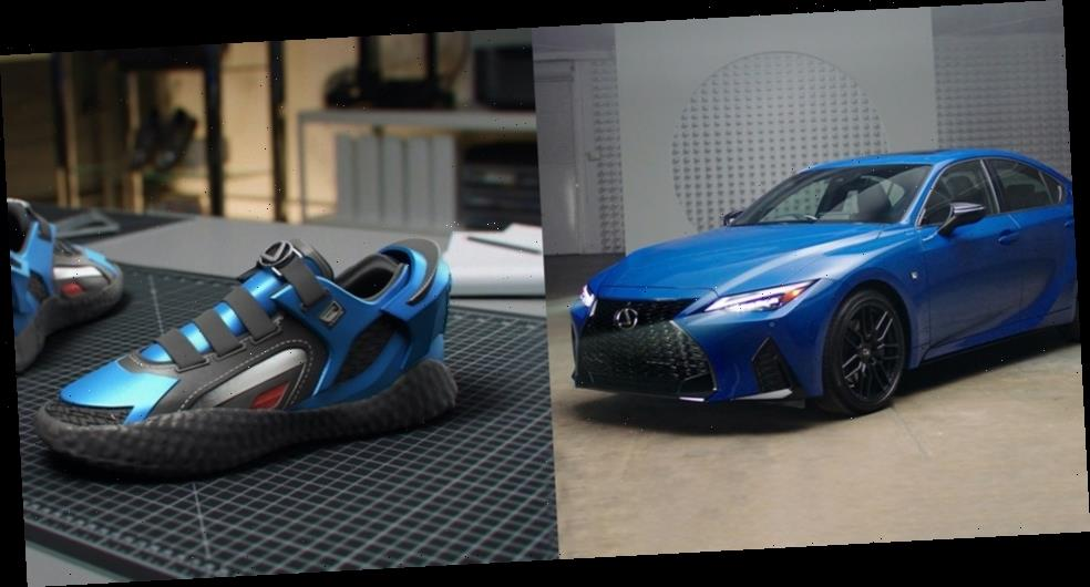 Lexus Translates Its 2021 IS 350 F Sport Into a 3D-Printed Sneaker