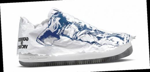"""The Nike Air Force 1 """"Shadow Goddess of Victory"""" Is Also Wrapped in Paper"""
