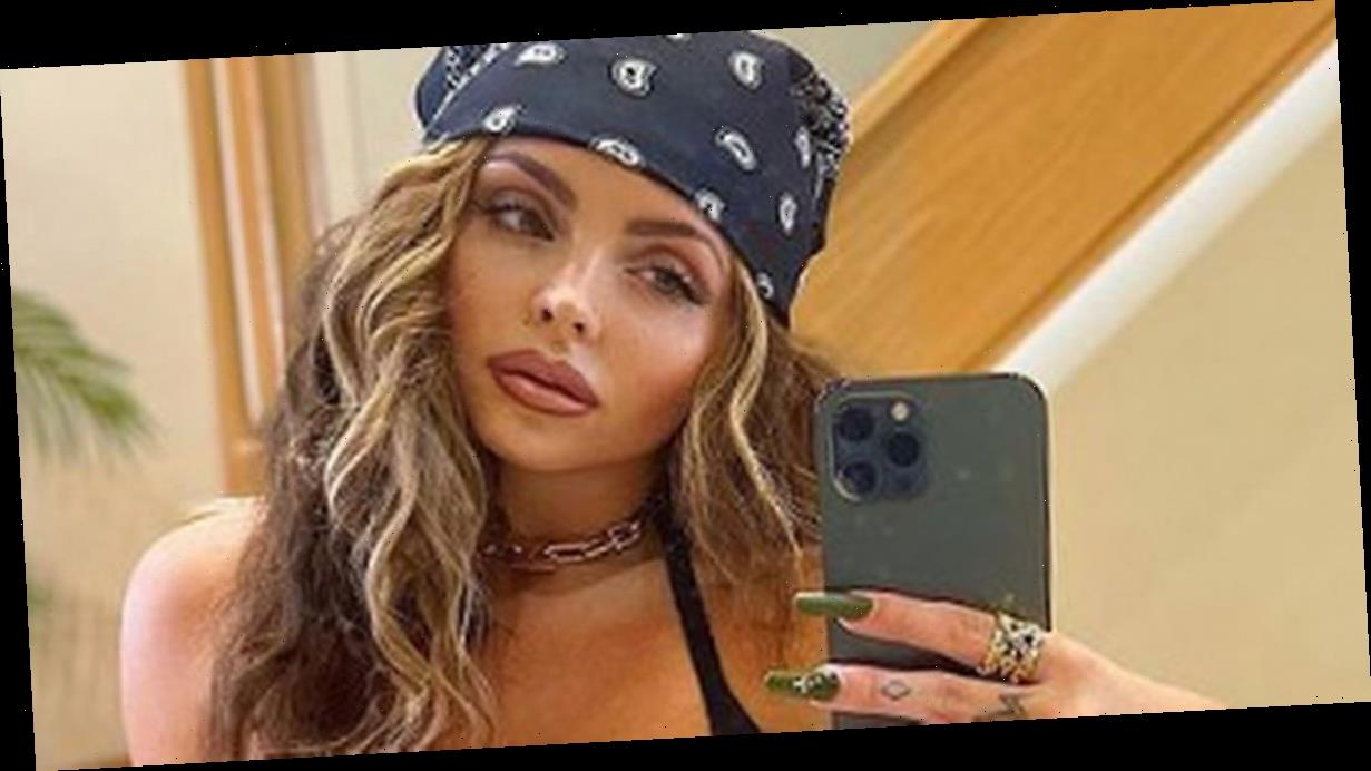 Jesy Nelson flaunts cleavage and abs in crop top as she heads to the studio