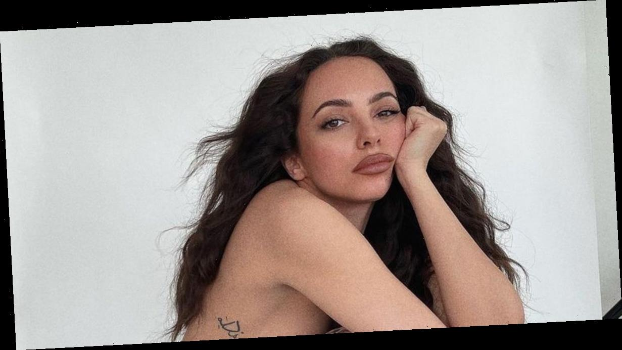 Little Mix's Jade Thirlwall poses topless in sheer tights for sultry photoshoot