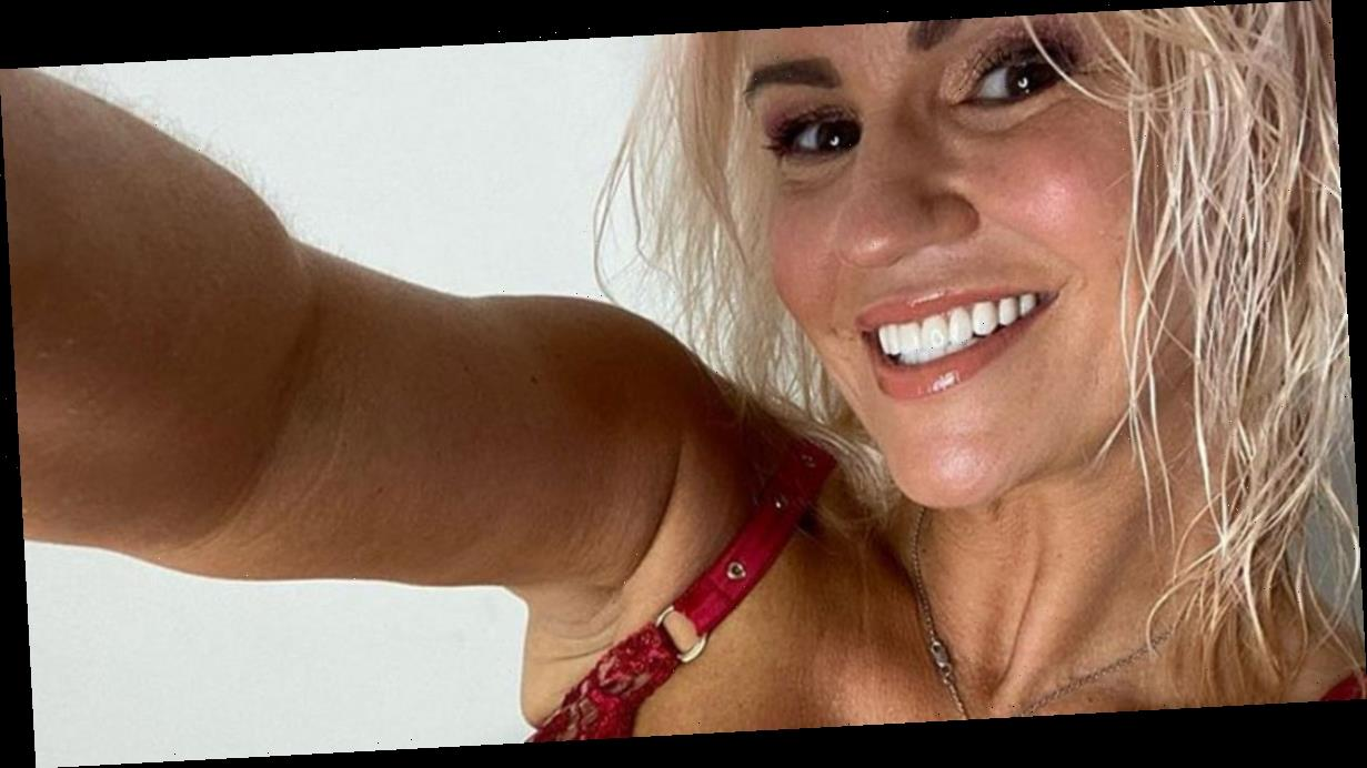 Kerry Katona quips her man gives her a 'good beasting' every morning and night