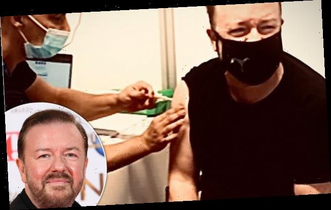 Ricky Gervais, 59, becomes the latest star to get Covid-19 vaccine