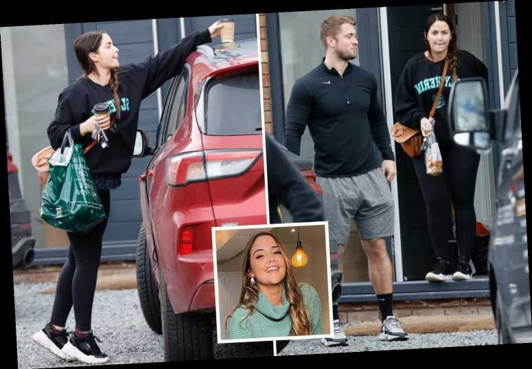 Jacqueline Jossa and Dan Osborne are spotted leaving their new £1.2 million house