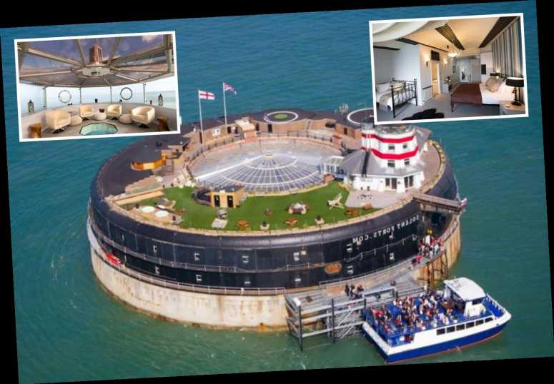 Incredible 23-bedroom military fort off coast of Isle of White complete with helipad and saunas for sale at £4.25m
