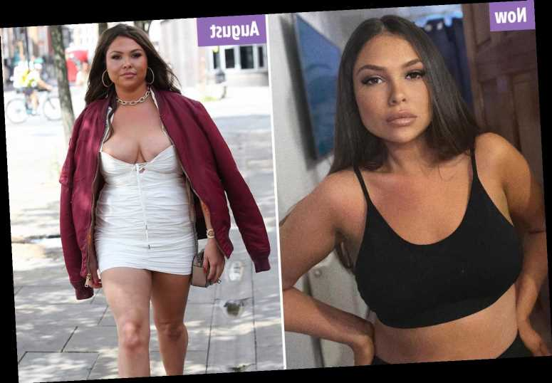 Towie's Fran Parman looks stunning as she shows off 2st weight loss after hitting back at trolls