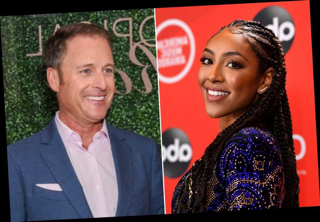 Tayshia Adams says Chris Harrison congratulated her as his 'Bachelor' replacement