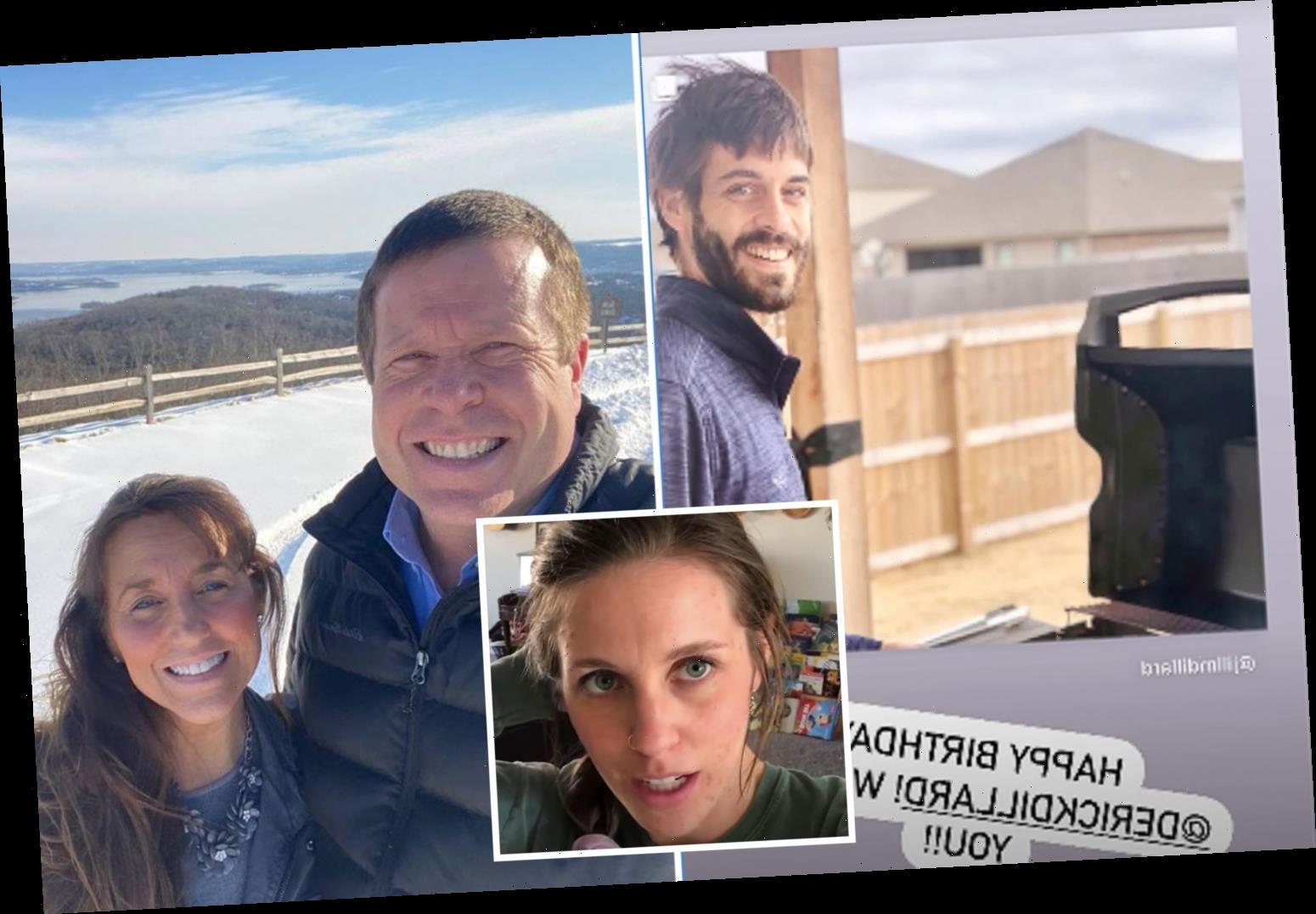Jim Bob & Michelle Duggar wish estranged daughter Jill's husband Derick a happy birthday & say 'we love you' amid feud