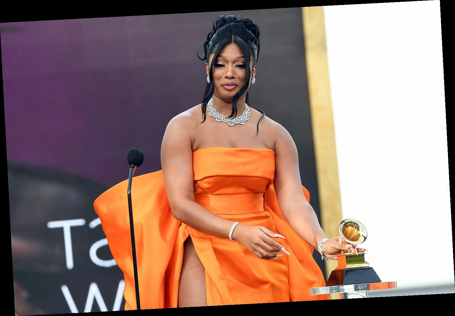 Megan Thee Stallion Thanks Her Late Mom in Best New Artist Acceptance at the Grammys