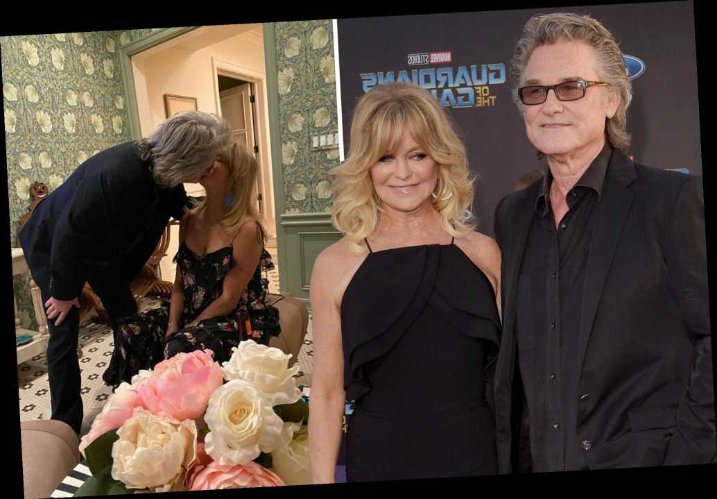 Goldie Hawn and Kurt Russell kiss in rare PDA photo