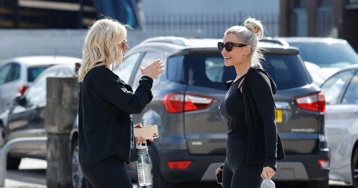 Billie Faiers bumps into former TOWIE co-star and pal Danielle Armstrong outside gym in Brentwood