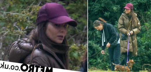 Cheryl makes rare public appearance as she joins pal for woodlands stroll