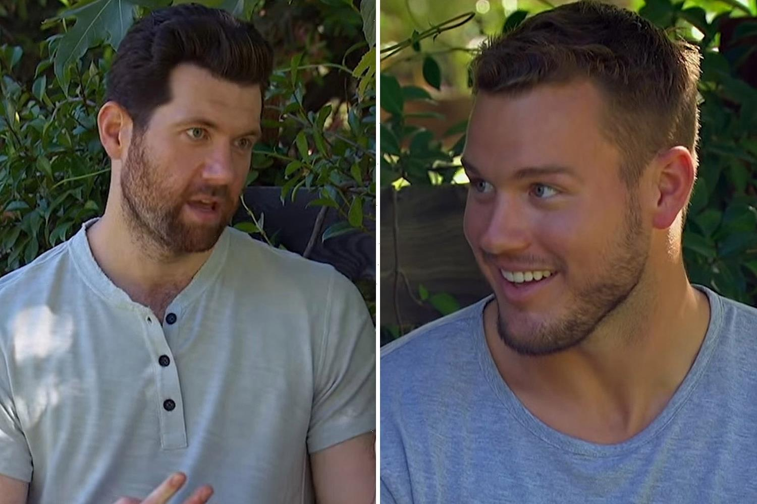 Colton Underwood looked shocked as comic Billy Eichner told him to be 'the first gay Bachelor' years before he came out