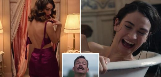 Lily James strips naked and Dominic West cracks a whip in VERY racy first trailer for BBC's The Pursuit of Love