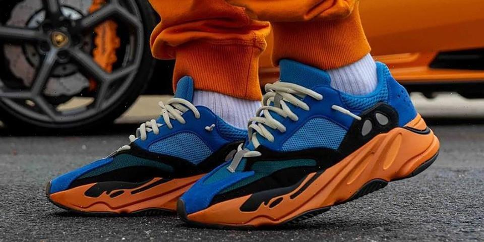 "On-Foot Look at the adidas YEEZY BOOST 700 ""Bright Blue"""