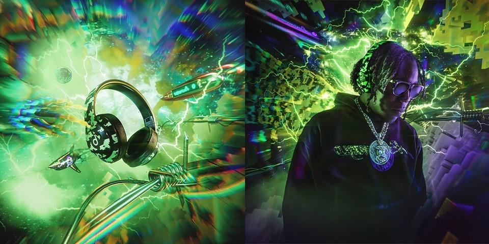 Psychworld and Beats Collide for a Neon Digi-Camo-Fueled Release