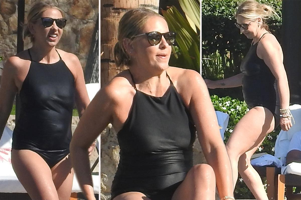 Sarah Michelle Gellar slips into black swimsuit to celebrate her 44th birthday with friends including Lauren Conrad