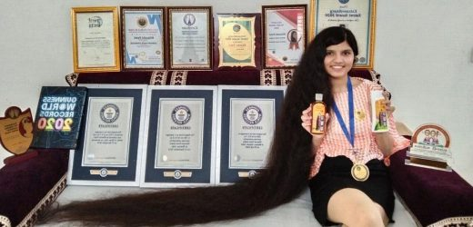 Teen with 'longest hair' cuts off record-breaking mane in extreme transformation