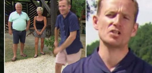 'Tell your face' A Place in the Sun's Jonnie Irwin brutally swipes at unenthusiastic guest