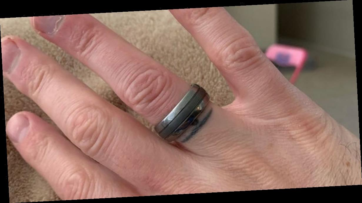 Bloke tattoos finger after losing wedding ring – then finds it six years later