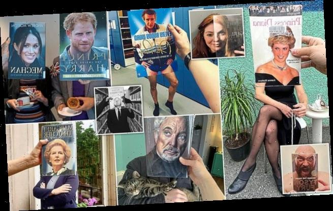 New craze sees people using famous photographs to pose as celebrities