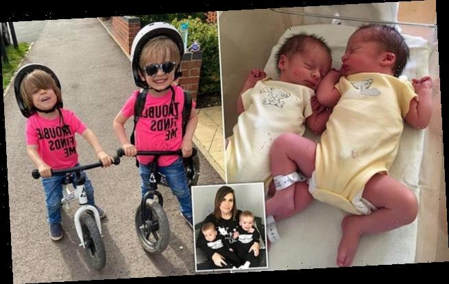 Mother reveals she conceived twins WEEKS apart in 'double pregnancy'