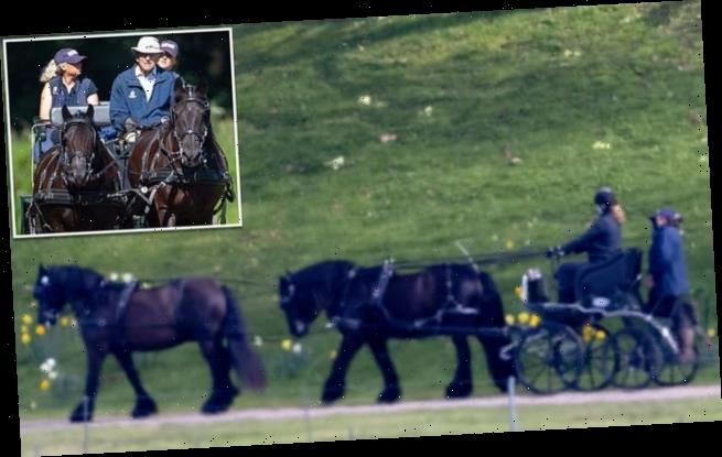 Prince Philip dies: Lady Louise goes carriage driving in tribute