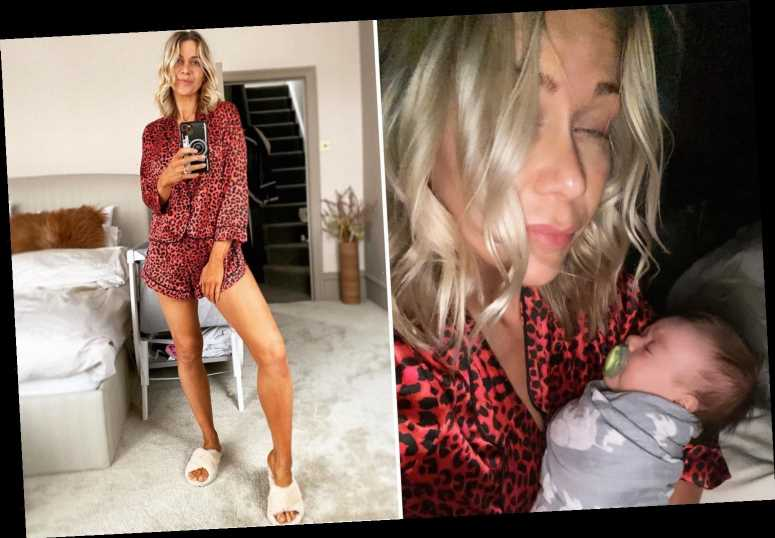 New mum Kate Lawler admits 'sleep deprivation is torture' as she shares bleary-eyed selfie with baby Noa