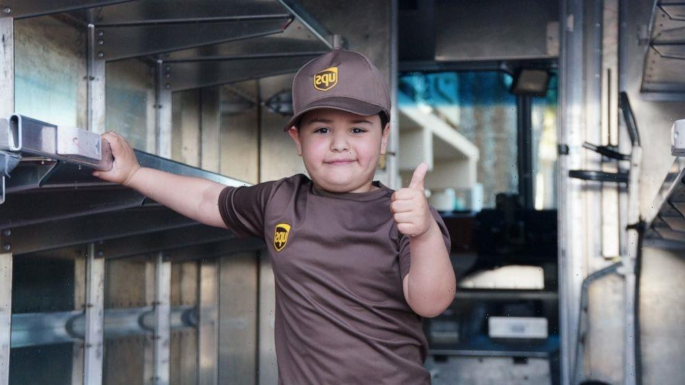 6-year-old with leukemia is world's youngest UPS driver