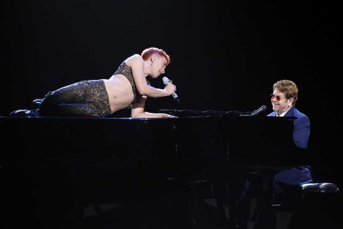 Brit Awards fans in tears over 'groundbreaking' Elton John and Olly Alexander performance