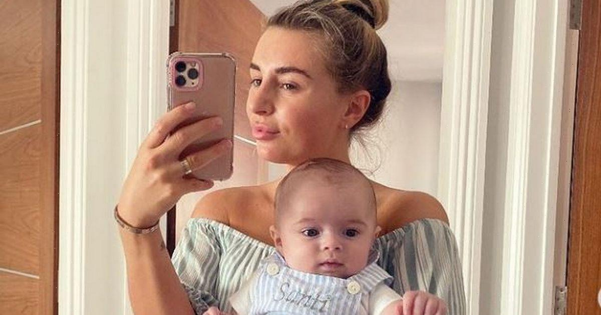 Dani Dyer shows off genius hack as she transforms paddling pool into shaded area for baby Santiago
