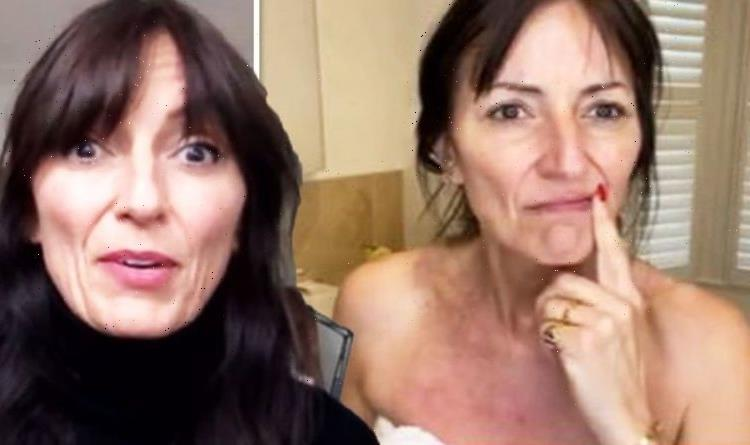 Davina McCall flaunts body in towel and says 'testosterone doesn't make you grow a penis'
