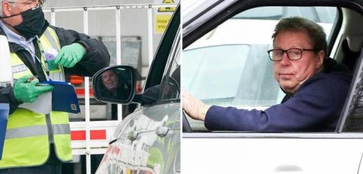 Harry Redknapp is pictured arriving at Eastenders set to film scenes for his new role on the soap alongside Danny Dyer