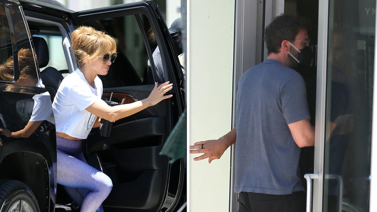 Jennifer Lopez & Ben Affleck Hit Gym Together in Miami